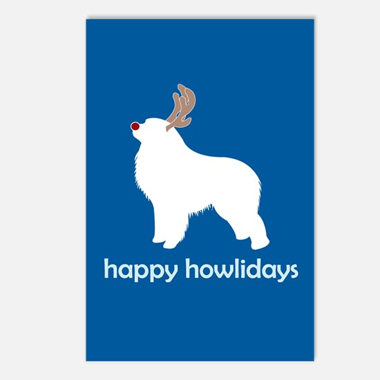 """G Pyrenees """"Happy Howlidays"""" Postcards (Package of"""