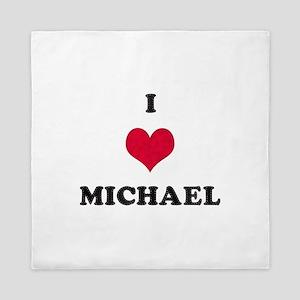 I Love Michael Queen Duvet