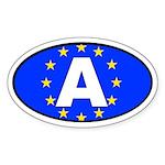 Austria - European Union Oval Sticker