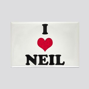 I Love Neil Rectangle Magnet