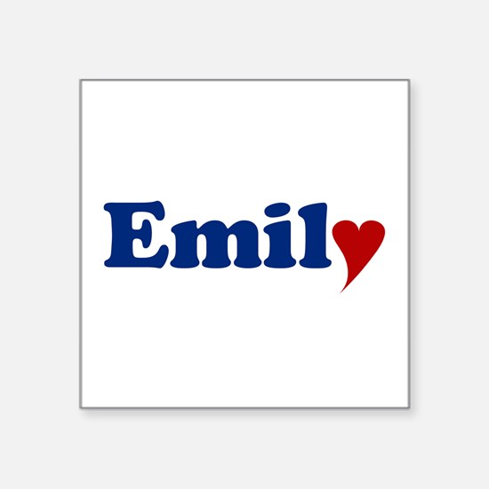 """Emily with Heart Square Sticker 3"""" x 3"""""""