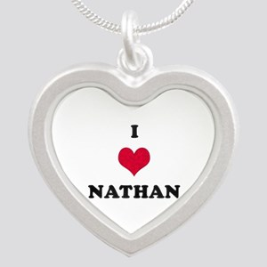 I Love Nathan Silver Heart Necklace