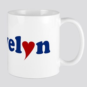 Evelyn with Heart Mug