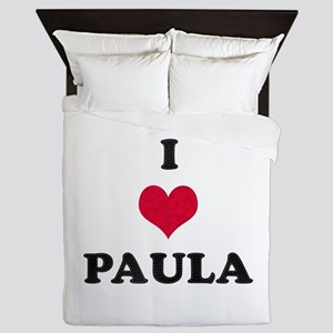 I Love Paula Queen Duvet