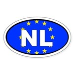 Netherlands - European Union Oval Sticker