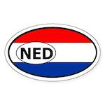 Netherlands Holland flag banner Oval Sticker