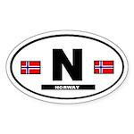 Norway International Style Oval Sticker