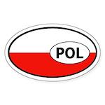 Poland flag Oval Sticker