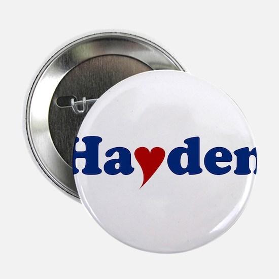 """Hayden with Heart 2.25"""" Button"""