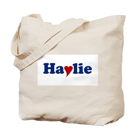 Haylie with Heart Tote Bag
