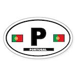 Portugal International Style Oval Sticker