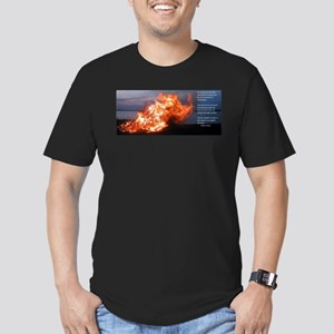Thomas Kelly on Gods fires Men's Fitted T-Shirt (d
