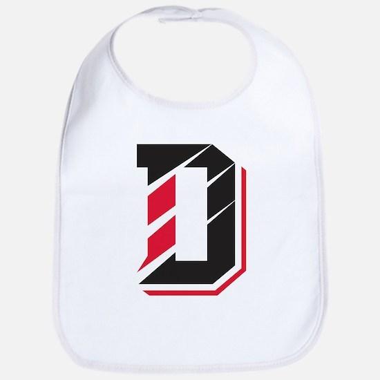 Davidson Wildcats Pawprint Logo White Baby Bib