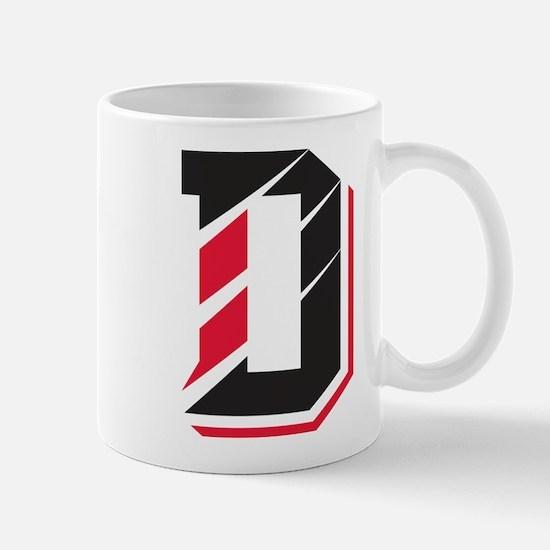 Davidson Wildcats Pawprint Logo White Mugs