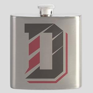 Davidson Wildcats Pawprint Logo White Flask
