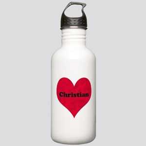 Christian Leather Heart Stainless Water Bottle 1.0