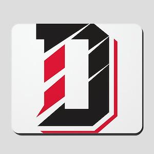Davidson Wildcats Pawprint Logo White Mousepad