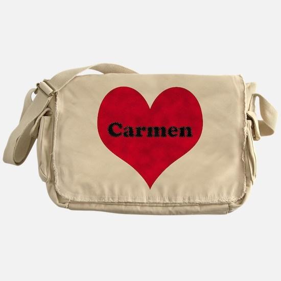 Carmen Leather Heart Messenger Bag