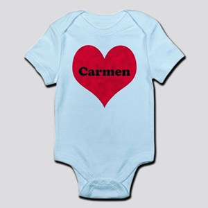 Carmen Leather Heart Infant Bodysuit