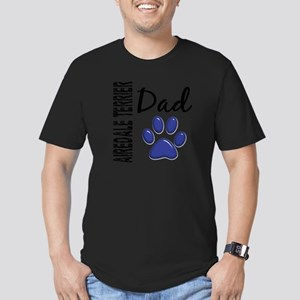Airedale Terrier Dad 2 Men's Fitted T-Shirt (dark)