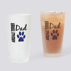 Airedale Terrier Dad 2 Drinking Glass