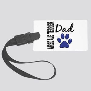 Airedale Terrier Dad 2 Large Luggage Tag