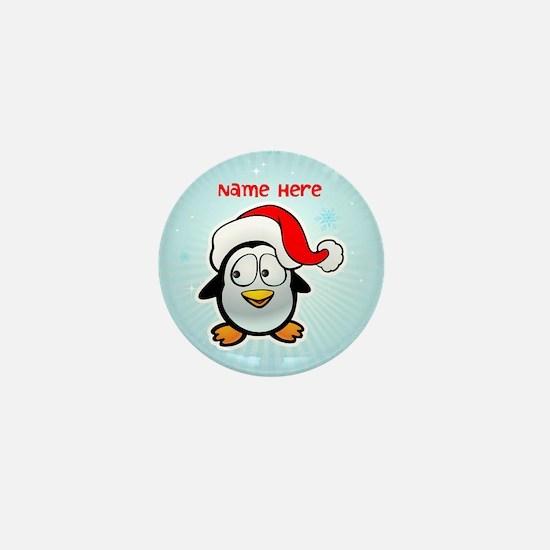 Penguin Santa Mini Button (10 pack)