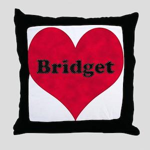 Bridget Leather Heart Throw Pillow