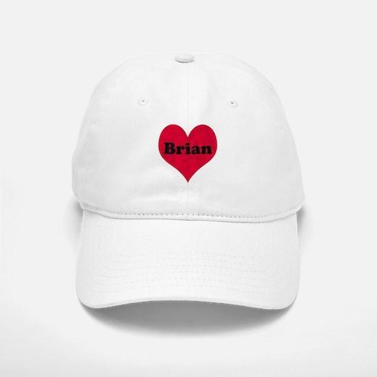 Brian Leather Heart Baseball Baseball Cap