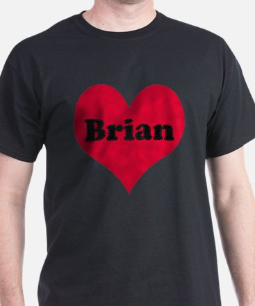 Brian Leather Heart T-Shirt