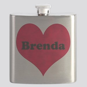Brenda Leather Heart Flask