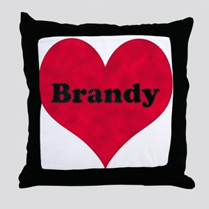 Brandy Leather Heart Throw Pillow