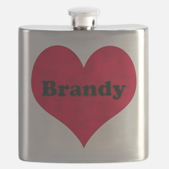 Brandy Leather Heart Flask