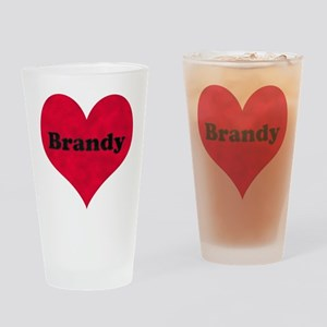 Brandy Leather Heart Drinking Glass