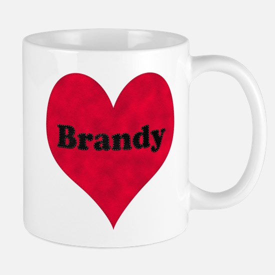 Brandy Leather Heart Mug