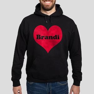 Brandi Leather Heart Hoodie (dark)