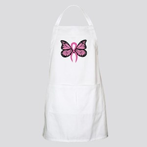 Breast Cancer Butterfly BBQ Apron