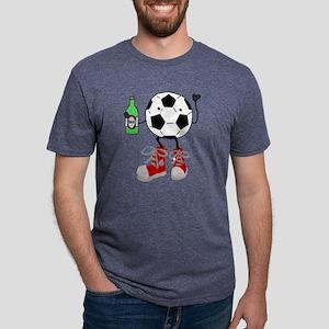 Funny Soccer Ball Man Drink Mens Tri-blend T-Shirt