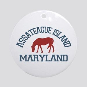 Assateague Island MD - Ponies Design. Ornament (Ro