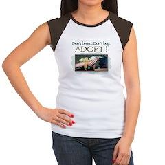 Women's Cap Sleeve T-Shirt - Budgerigars