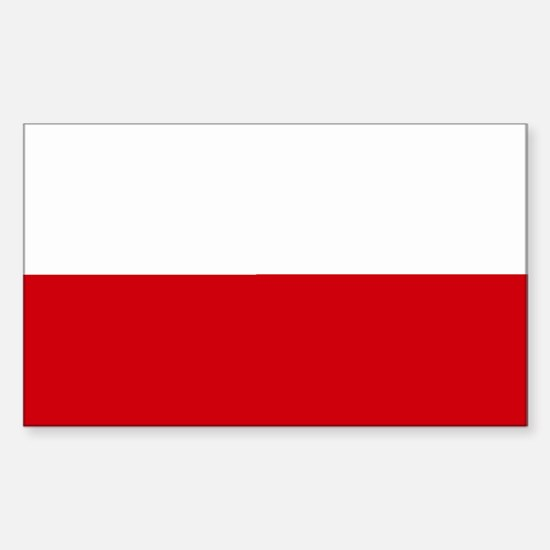 Poland Rectangle Decal
