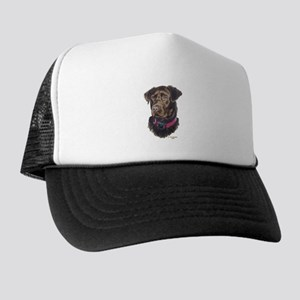 Java, Chocolate Labrador Trucker Hat