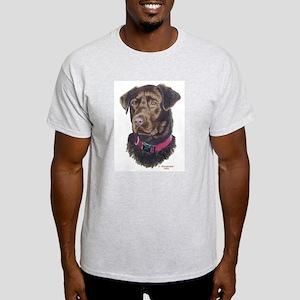 Java Choc Labrador Ash Grey T-Shirt