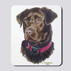 Java, Chocolate Labrador Mousepad