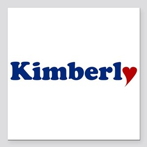 """Kimberly with Heart Square Car Magnet 3"""" x 3"""""""