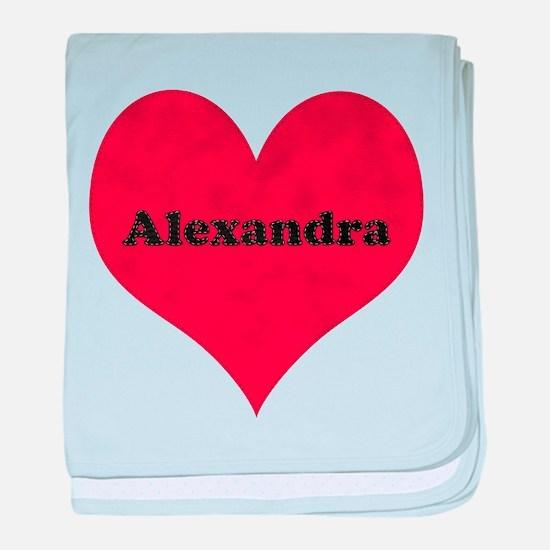 Alexandra Leather Heart baby blanket