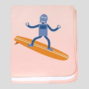 Surfing Robot baby blanket