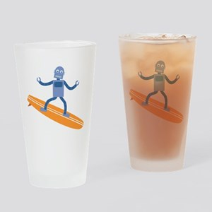 Surfing Robot Drinking Glass