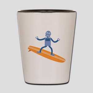 Surfing Robot Shot Glass