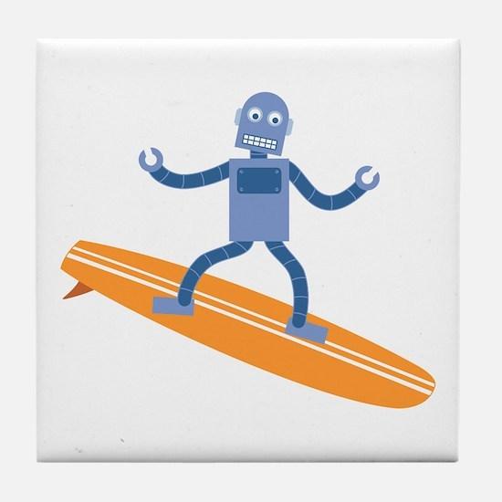 Surfing Robot Tile Coaster